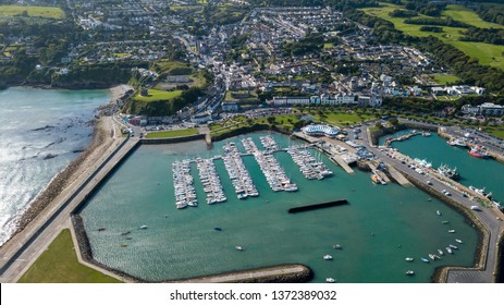 Aerial view Howth Harbour and village