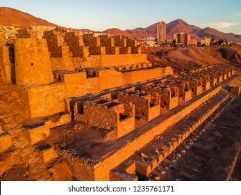 Aerial view of the Huanchaca ruins, Antofagasta