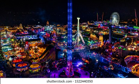 Aerial view of Hull fair 2019, from the big wheel! Photo taken 04/10/2019
