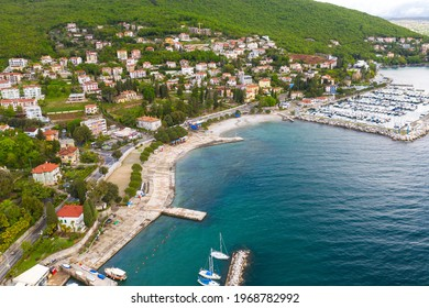 Aerial view of Icici town in Croatia - Shutterstock ID 1968782992