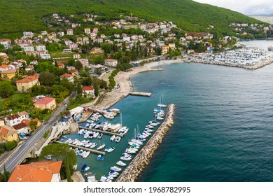 Aerial view of Icici town in Croatia - Shutterstock ID 1968782995