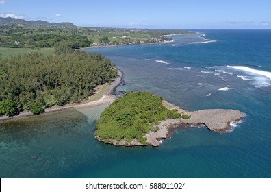 Aerial view of Ilot sanchot Mauritius