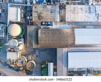 Aerial view of industrial area