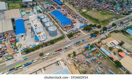 aerial view of Industrial area in Dar es salaam city - Shutterstock ID 1914602914