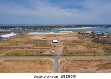 Aerial view of an industrial zone in the Port Adelaide area of South Australia