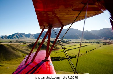 Aerial View Inside a Biplane - New Zealand