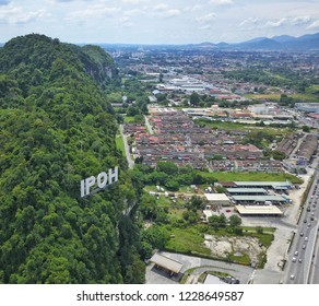 Aerial view of Ipoh Perak, Malaysia.Ipoh is a capital state of Perak. Ipoh is a great weekend getaway destination for those who love food, nature and adventure.