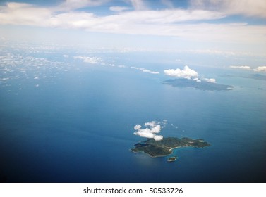 aerial view of the islands in Thailand