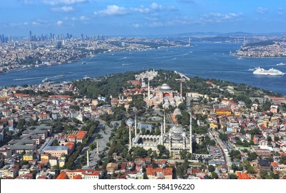 Aerial view of Istanbul. 11.08.2014