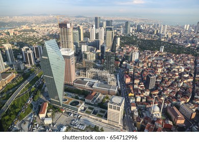 Aerial view of Istanbul City in Turkey