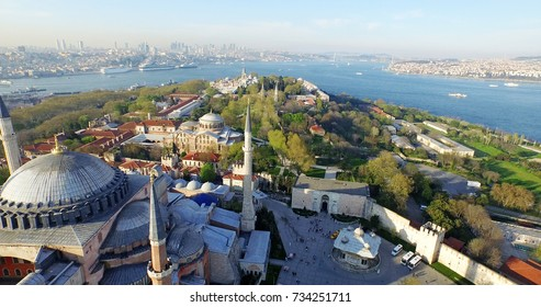 Aerial View Of Istanbul and Hagia Sophia