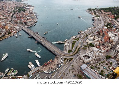 Aerial view of Istanbul. Old city.