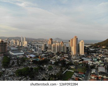 Aerial view of Itajai City