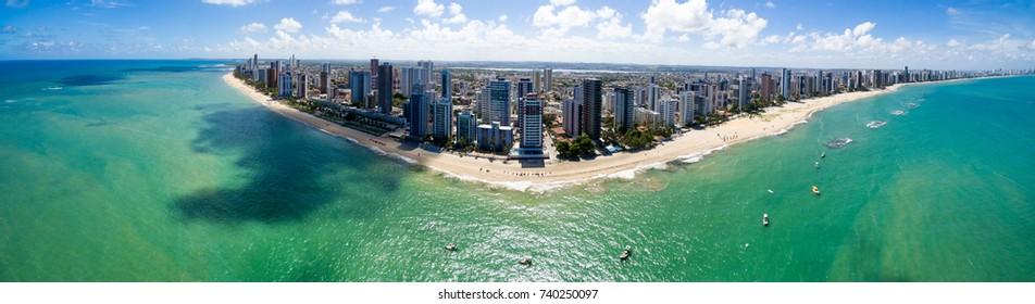 Aerial view of Jaboatao dos Guararapes beach, Pernambuco, Brazil