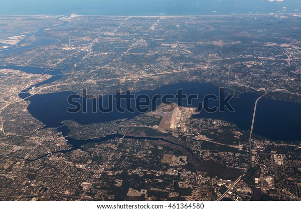Aerial View of Jacksonville, Florida