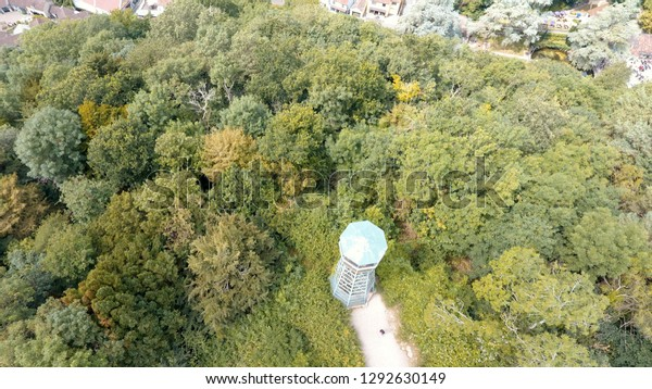 Aerial View Jacobs Ladder Lookout Tower Stock Photo (Edit
