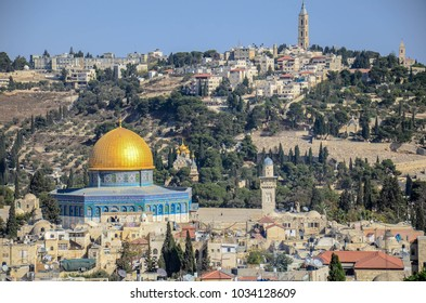 aerial view of Jerusalem old city