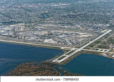 Aerial view of JFK airport, New York