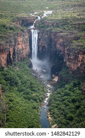 Aerial view of Jim Jim Waterfall, Kakadu