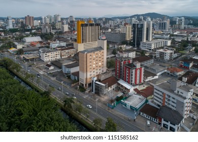 Aerial view of Joinville, Brazil, July, 2018
