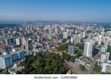 Aerial view from Joinville/Brazil, July, 2018