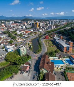 Aerial view of Joinville's Downtown