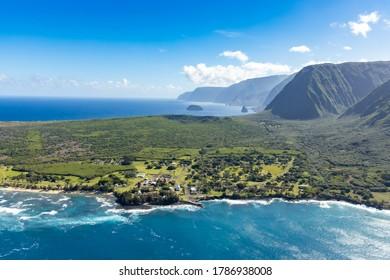 Aerial View of Kalaupapa National Historic Park,Kalaupapa,  Molokai, Hawaii, USA - Shutterstock ID 1786938008