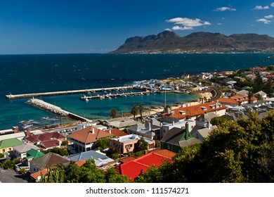 Aerial view of Kalkbay harbor in the Western Cape