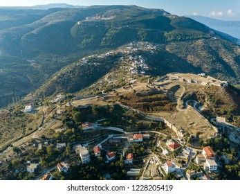 Aerial view of Kanine castle in Vlora, Albania (Albanian Castle)