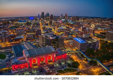 Aerial View of Kansas City, Missouri during the Summer