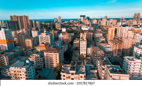 aerial view of kariakoo area, Dar es Salaam