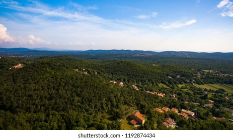 Aerial View of Karst Landscape. Drone Photography