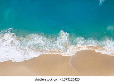 Aerial view at Kelingking beach on the island of Nusa Penida in Indonesia