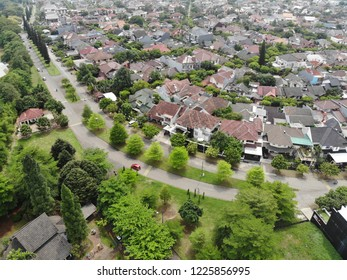 Aerial view of Kemang Pratama Residence in Bekasi Indonesia