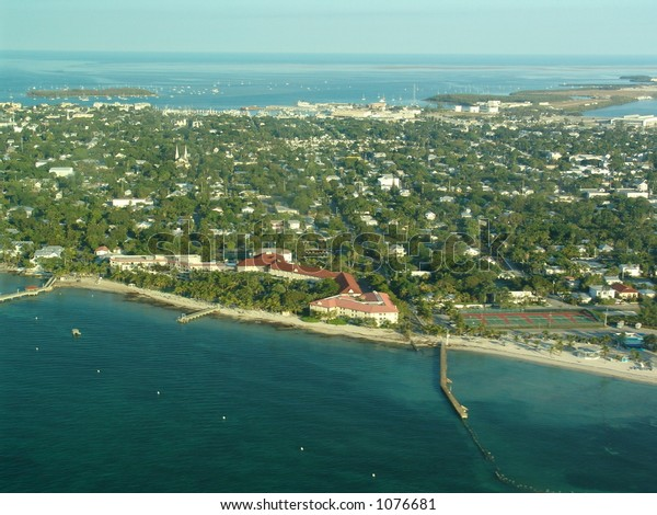 Aerial view of Key West Florida