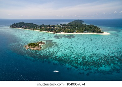 Aerial view of Koh Lipe in Thailand