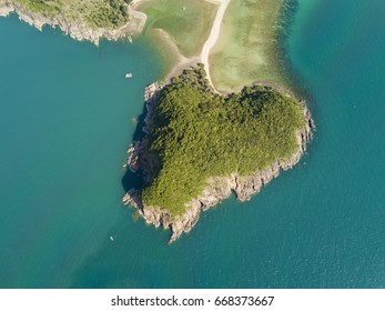 Aerial view koh Maa from top view, Phangan island, Thailand