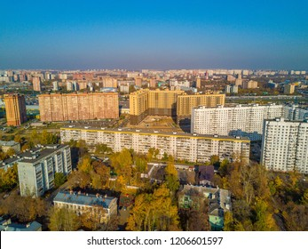 Aerial view of Kotelniki City at Moscow Region / Russia