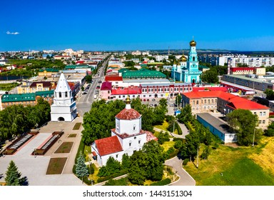 Aerial view of the Kremlin in Syzran, Samara Oblast of Russia