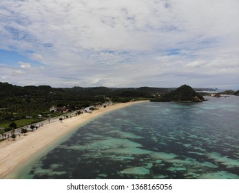 Aerial view of Kuta Mandalika Beach Lombok Indonesia