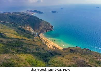 Aerial view of Ky Co beach, Quy Nhon, Binh Dinh, Vietnam - Shutterstock ID 1921314299