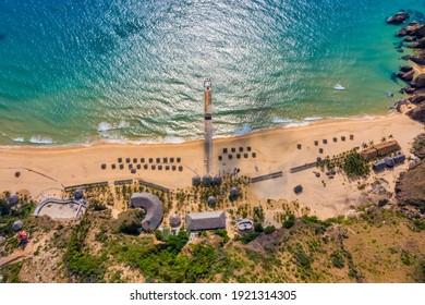 Aerial view of Ky Co beach, Quy Nhon, Binh Dinh, Vietnam - Shutterstock ID 1921314305