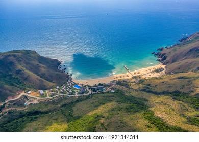 Aerial view of Ky Co beach, Quy Nhon, Binh Dinh, Vietnam - Shutterstock ID 1921314311