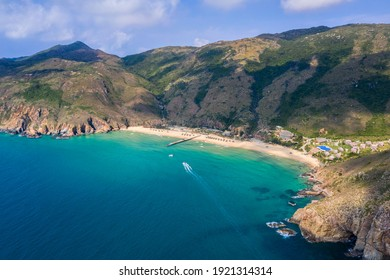 Aerial view of Ky Co beach, Quy Nhon, Binh Dinh, Vietnam - Shutterstock ID 1921314314