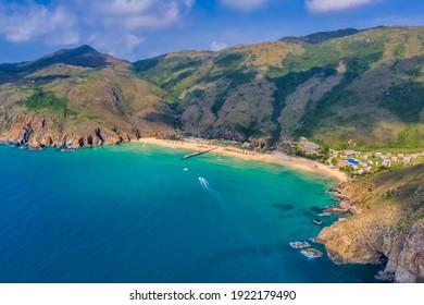 Aerial view of Ky Co beach, Quy Nhon, Binh Dinh, Vietnam - Shutterstock ID 1922179490