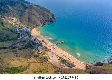 Aerial view of Ky Co beach, Quy Nhon, Binh Dinh, Vietnam - Shutterstock ID 1922179493