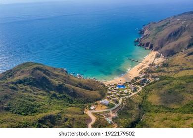 Aerial view of Ky Co beach, Quy Nhon, Binh Dinh, Vietnam - Shutterstock ID 1922179502