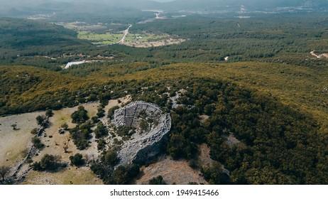 aerial view of Kyaneai Antik Kenti near Demre in Turkey. High quality photo