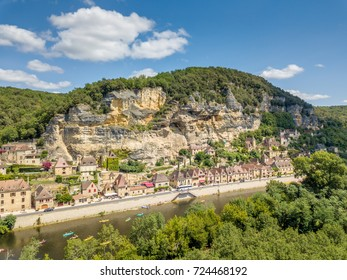 Aerial view of La Roque Gageac France