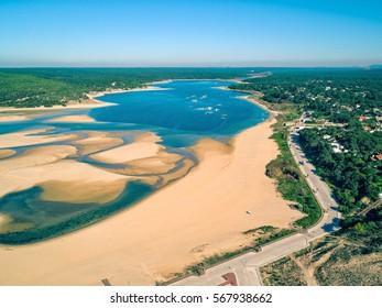 Aerial View Lagoa de Albufeira, Portugal